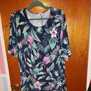 Old Navy Tropical Print Dress sz XXL